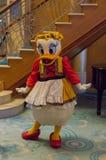 Daisy Duck en un equipo alemán Fotos de archivo libres de regalías