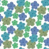 Daisy Field Teste padr?o sem emenda das flores simples da camomila ilustração royalty free