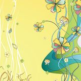 Daisy Flower Background abstraite Illustration Stock