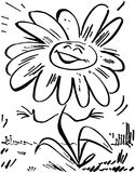 Daisy Flower de sorriso ilustração royalty free