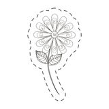 Daisy flower decoration cut line Royalty Free Stock Photography