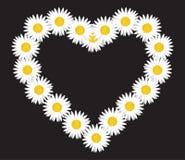 Daisy flower letter royalty free illustration