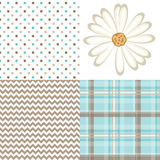 Daisy Flower Polka Dot Postcards Royalty Free Stock Photos