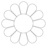 Daisy flower (vector) Stock Photography