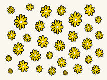 Daisy flowers pattern Stock Images