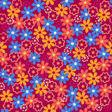 Daisy Flowers Seamless Repeat Pattern Vector Stock Photo