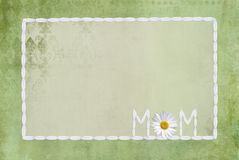 Daisy Frame for Mom Stock Image