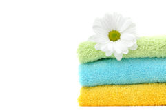 Daisy and Fresh Towels Stock Photos