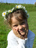 Daisy girl Royalty Free Stock Images