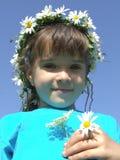 Daisy girl Royalty Free Stock Image