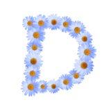 Daisy Letter blu D Fotografia Stock Libera da Diritti