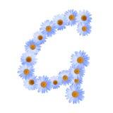 Daisy Letter blu G Fotografie Stock Libere da Diritti