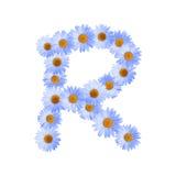 Daisy Letter blu R Immagini Stock Libere da Diritti