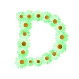 Daisy Letter verde D Fotografie Stock