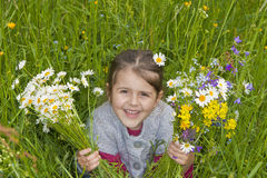 Daisy little girl Royalty Free Stock Photography