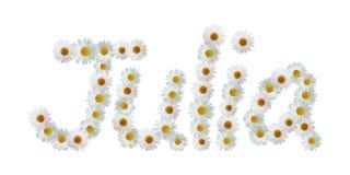 Daisy Name Julia Royalty Free Stock Image
