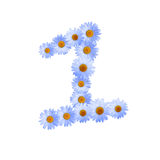 Daisy Number One azul Imagens de Stock Royalty Free