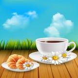 Daisy Realistic Breakfast Composition ilustração stock