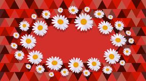 Daisy red Celebration card Royalty Free Stock Images