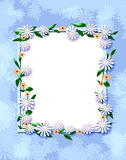 Daisy scrapbook frame Royalty Free Stock Photography