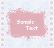 Daisy scrapbook template Royalty Free Stock Image
