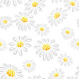 Daisy seamless pattern Royalty Free Stock Photos