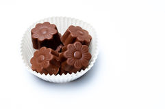 Daisy shaped chocholate assortments Stock Photo
