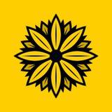 Daisy Solid Logo Design illustration de vecteur
