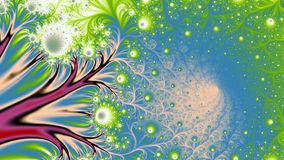 Daisy Spring, widescreen. Bright floral like fractal background in widescreen Royalty Free Stock Image