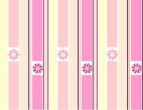 Daisy with stripes stock illustration