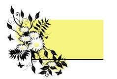 Daisy Swag Over Yellow Royalty Free Stock Photos