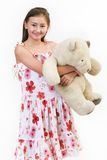 Daisy teddy bear 1 royalty free stock photo