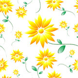 Daisy Tile. Tileable daisy pattern on white background vector illustration