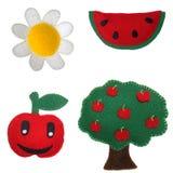 Daisy, watermeloen, appel en appelboom Stock Afbeeldingen