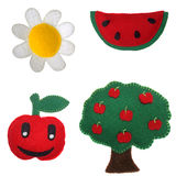 Daisy, watermelon, apple and apple Tree Stock Images