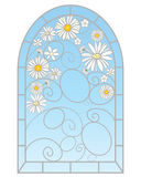 Daisy window Royalty Free Stock Photos