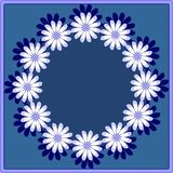 Daisy wreath in blue Royalty Free Stock Images