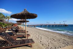 Daitona beach, Marbella, Spain. Stock Images