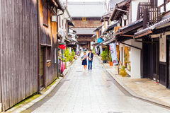 Daitsu-Ji Buddhist Temple Road Shops Nagahama H Stock Photo