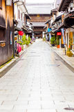 Daitsu-Ji de Boeddhistische Winkels Nagahama V van de Tempelweg Royalty-vrije Stock Foto's