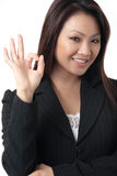 daj biznesowej kobieta Fotografia Royalty Free