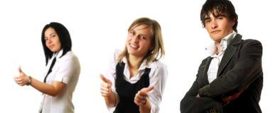 daj przedsiębiorstw drużynowe kciuki w górę Obrazy Stock