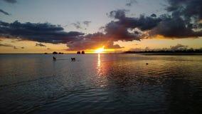 daj się narażenia na plaży wolnym miękkim sunset fala bardzo Fotografia Stock