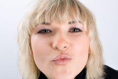 Daje ja buziakowi Zdjęcie Stock