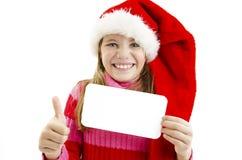 daje karciany target1229_0_ Santa karciana dziewczyna Zdjęcia Stock