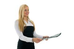 daje młode raportowe kobiety oddalony biznes Obraz Royalty Free