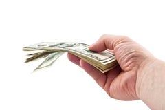 Daje pieniądze Zdjęcie Stock