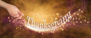 Daje twój dziękczynienia błyskotaniu troszkę obrazy stock