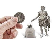 Daje z powrotem Caesar co jest jego Zdjęcia Stock