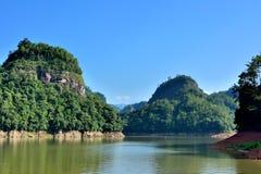 DaJin Lake, Taining, Fujian, China. DaJin Lake, as featured physiognomy locate in Taining, Fujian province, South of China Royalty Free Stock Photography